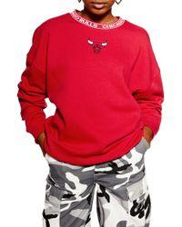 TOPSHOP Bulls Mini Motif Sweatshirt