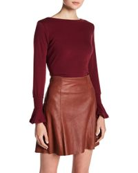 Go Couture - Long Bell Ruffle Sleeve Sweater - Lyst