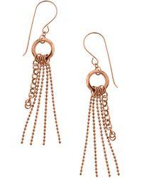 Liberty - 14k Rose Gold Tassel Earrings - Lyst
