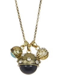 Jessica Simpson - Stone & Crystal Three Ball Pendant Necklace - Lyst