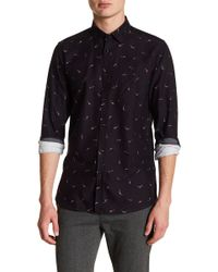 Ted Baker - Poisson Mini Fish Print Trim Fit Shirt - Lyst