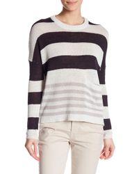Brochu Walker - Zander Linen Blend Stripe Pullover - Lyst