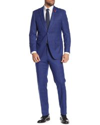 English Laundry - Plaid Two Button Wide Peak Lapel Suit - Lyst