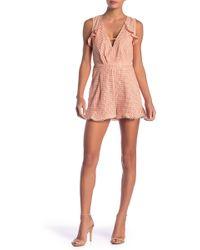 a105f81259c0 Adelyn Rae - Parker Eyelet Crochet Romper - Lyst