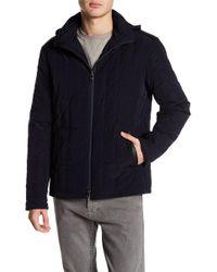 John Varvatos - Concealed Hood Quilted Jacket - Lyst