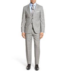 Strong Suit - Cutlass Plaid Two Button Notched Lapel Wool Trim Fit Suit - Lyst