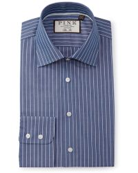 Thomas Pink - Slim Fit Holbert Stripe Dress Shirt - Lyst