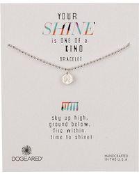 Dogeared - Sterling Silver Your Shine Angel Wing Token Bracelet - Lyst