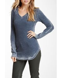Go Couture - V-neck Thermal Tee - Lyst