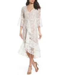 Chelsea28 - Ruffle Lace Midi Dress - Lyst