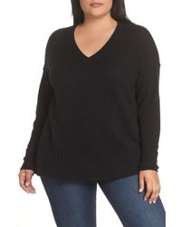 5cf5a2ac1533a Nordstrom Rack · Sejour - Wool   Cashmere Side Split Pullover (plus Size) -  Lyst