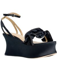 Leon Max - Blith Ankle Strap Wedge Sandal - Lyst