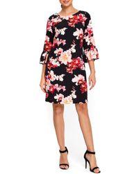 Wallis - Orchid Blossom Bell Sleeve Dress - Lyst