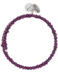 ALEX AND ANI - Primal Spirit Aubergine Beaded Expandable Wire Wrap Bracelet - Lyst