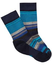Smartwool | Saturnsphere Striped Colorblock Crew Socks | Lyst