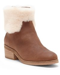 Lucky Brand - Tarina Genuine Shearling Trimmed Bootie - Lyst