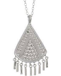 Anna Beck - Sterling Silver Triangle Fringe Pendant Necklace - Lyst