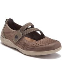 Earth - Tiffany Leather Mary-jane Flat - Wide Width Available - Lyst