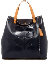 Orla Kiely - Embossed Stem Leather Duffle Backpack - Lyst