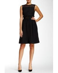 Orla Kiely - Grid Cutout Sleeveless Dress - Lyst
