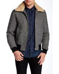 Slate & Stone - Faux Fur Collar Coat - Lyst