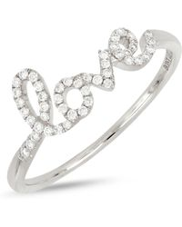 Bony Levy - 18k White Gold Diamond Accent Love Ring - 0.13 Ctw - Lyst