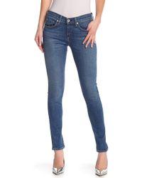 0322232edd94a Lyst - Rag   Bone Dark Wash Skinny Jean in Blue