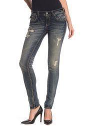 Rock Revival - Distressed Skinny Jeans - Lyst