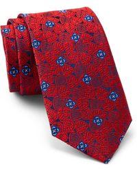 Ted Baker - Leaf Medallion Silk Tie - Lyst