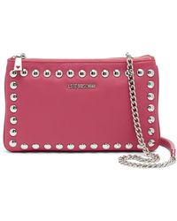 Love Moschino - Studded Convertible Crossbody Clutch - Lyst