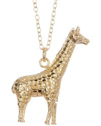 Anna Beck - 18k Gold Plated Sterling Silver Giraffe Pendant Necklace - Lyst