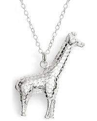 Anna Beck - Sterling Silver Giraffe Pendant Necklace - Lyst