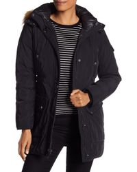 Andrew Marc - Willow Faux Fur Trim Parka - Lyst