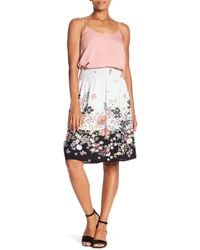 Bobeau - Smocked Knee Length Skirt - Lyst