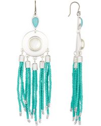 Lucky Brand - Chandelier Beaded Earrings - Lyst