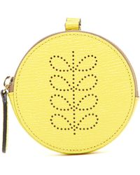 Orla Kiely - Round Hanging Leather Coin Purse - Lyst