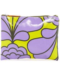 Orla Kiely - Large Zip Damask Flower Leather Pouch - Lyst