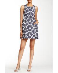 Orla Kiely - Floral Jacquard Pinafore Dress - Lyst