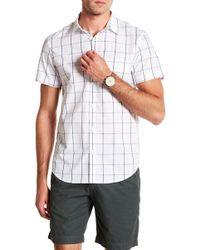 Calvin Klein - Short Sleeve Windowpane Print Woven Shirt - Lyst