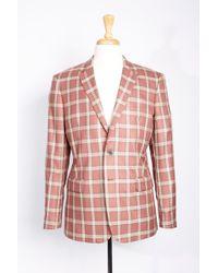 Boga - Plaid Wool & Cashmere Blazer - Lyst