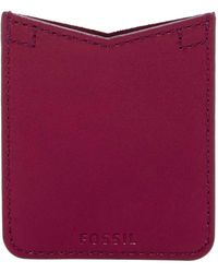 Fossil - Leather Card Case Sticker - Lyst