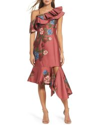 Keepsake - Night Lights Floral Asymmetrical Dress - Lyst