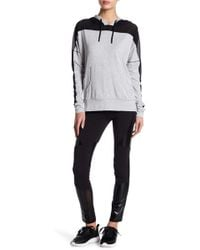 Warrior by Danica Patrick Active - Faux Leather Inset Leggings - Lyst