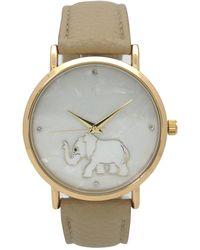 Olivia Pratt - Women's Elephant Face Crystal Quartz Watch - Lyst