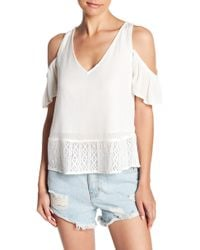 Rip Curl - Sierra Cold Shoulder Blouse - Lyst
