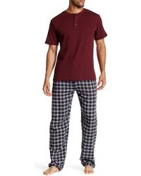 Majestic Filatures - Thermal Henley & Flannel Pant Set - Lyst