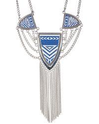 Jessica Simpson - Pattern & Tassel Detail Pendant Necklace - Lyst