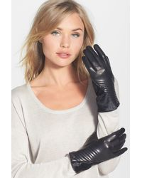 Vince Camuto - Leather & Genuine Calf Hair Gloves - Lyst