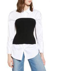 Halogen - Corset Sweater - Lyst