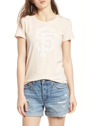 47 Brand - San Francisco Giants Fader Letter Tee - Lyst